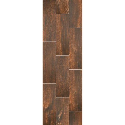 """Shaw Channel Plank Thicket Wood Look Porcelain Tile 7"""" X"""