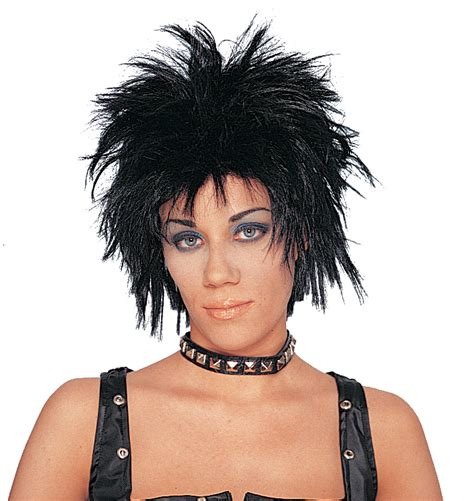 spikey wigs for black women 80 s short spiky heavy metal glam rock motley crue def