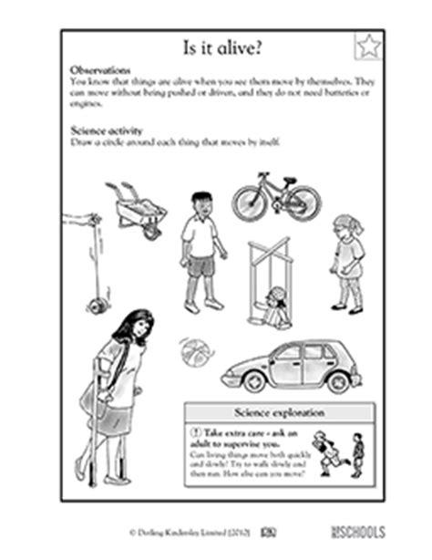 Is It Alive Worksheet by 1st Grade 2nd Grade Kindergarten Science Worksheets Is It Alive Greatschools
