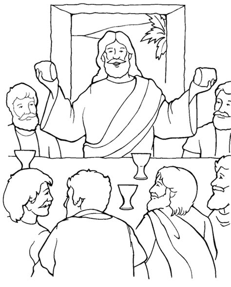 The Last Supper Coloring Page the privilege of serving luke 22 14 30 sunday school