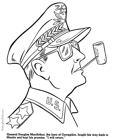 The General Coloring Pages General Douglas Mcarthur Military Coloring Pages For Kid 108 by The General Coloring Pages