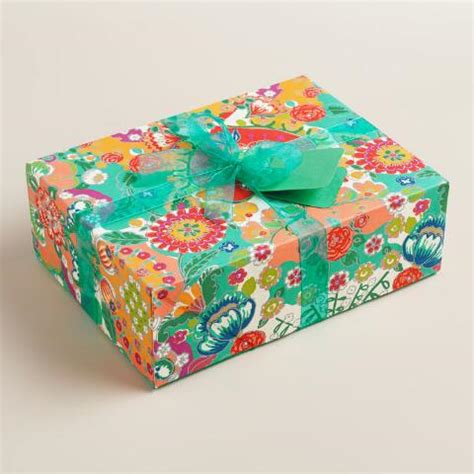 Handmade Fabric Gifts - bettina floral handmade fabric gift box world market