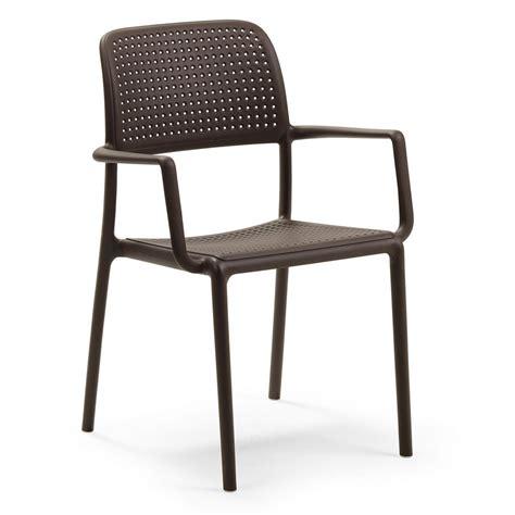 sedie per terrazzo sedia da giardino ed esterno con braccioli bora nardi
