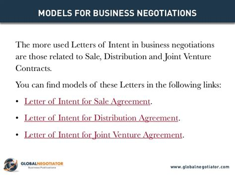 Letter Of Intent International Business Letter Of Intent Models For Business Negotiations