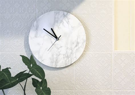 Marble Decor by Fox Diy Diy Minimalist Marble Clock