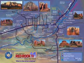 sedona tourist map sedona arizona mappery