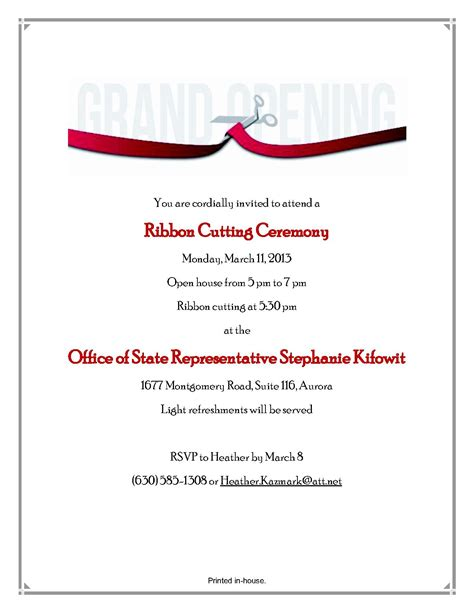 10 best images of ribbon cutting invitation template