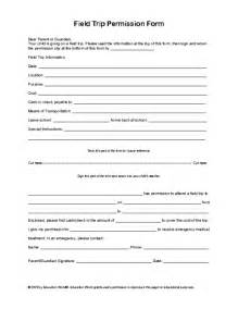 field trip form template education world field trip permission slip template