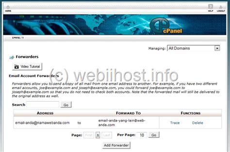 membuat auto reply di yahoo mail webiihost info cara membuat email forwarder di cpanel