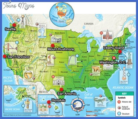 united states tourist map united states map tourist attractions map travel