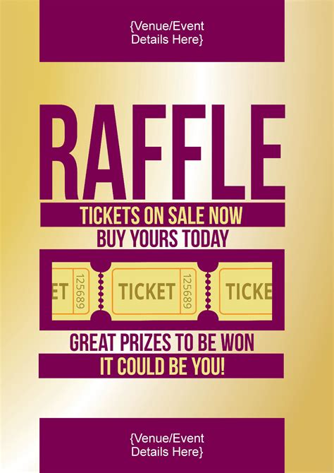 raffle poster templates raffle ticket poster template tire driveeasy co