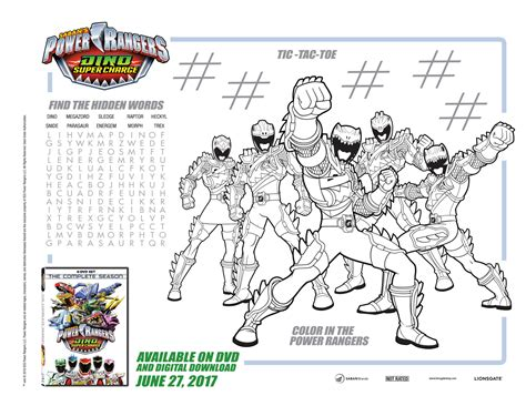 coloring pages of power rangers dino super charge lionsgate entertainment archives disney gals
