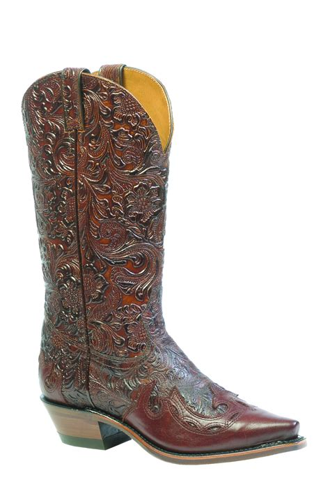 boulet western boots leather dankan brown chestnut