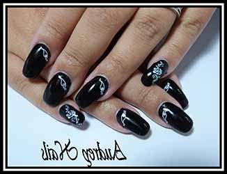 Deco Ongle Noir by Ongles En Gel Deco Noir Deco Ongle Fr