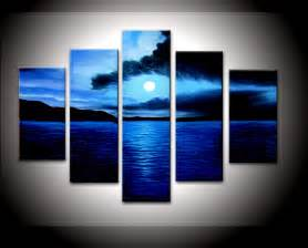 Blue Wall Decor by Painted Wall Sea Blue Cloud Home