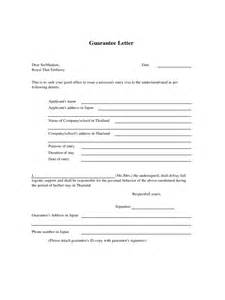 Letter Of Guarantee Template by Letter Of Guarantee 2 Free Templates In Pdf Word Excel