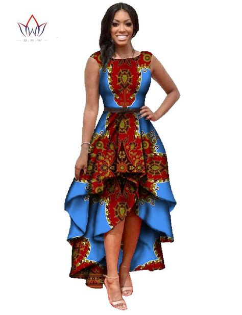 fashionable african dresses and suites african dashiki ankara dresses with cascading ruffle