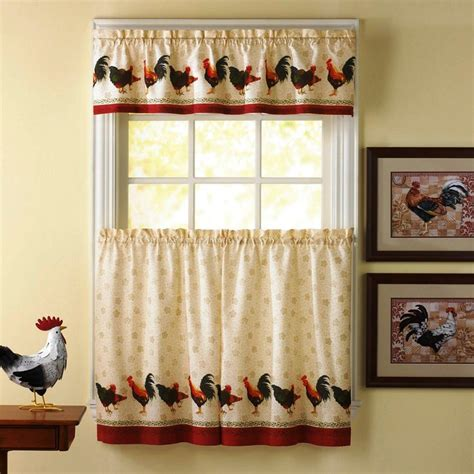 Valance Kitchen Curtains Rooster Kitchen Curtains Valance Rooster Kitchen Curtains Classic Dearmotorist