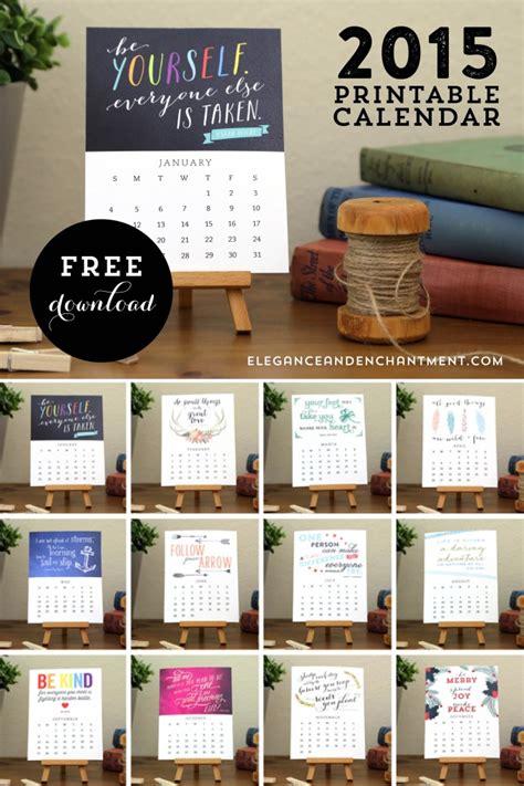 Inspirational Desk Calendar by Free Printable Motivational Desk Calendar