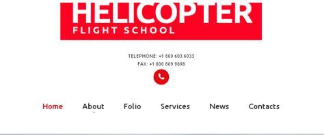 Navigation Ideas For Your Website Entheos Flight School Website Template