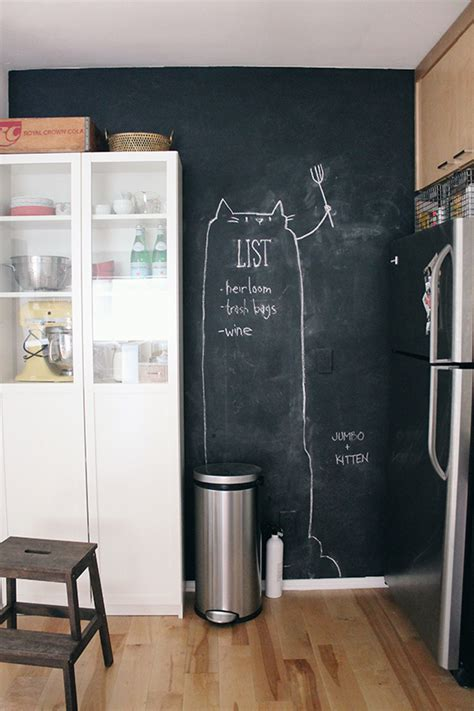 chalkboard kitchen wall ideas chalkboard kitchen wall almost makes