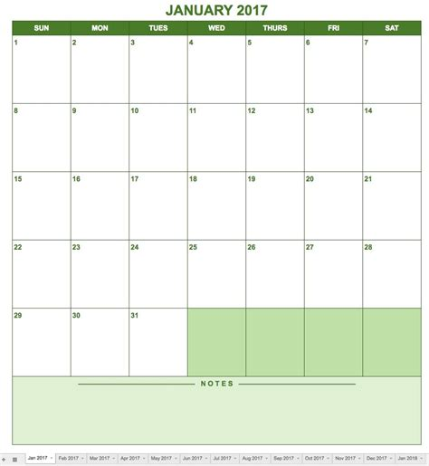 Is There A Calendar Template In Google Docs