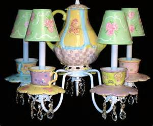 Teacup Chandelier Teacups And Teapot Chandelier By Whimsicalcollections On Etsy