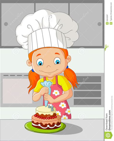 Mini Cup Cook Kartoon cooking cake stock vector illustration of 55845087