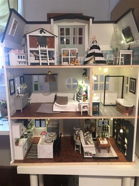 night fixer upper barbie house barbie doll house