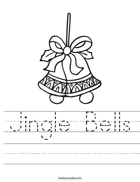 jingle bells worksheet twisty noodle