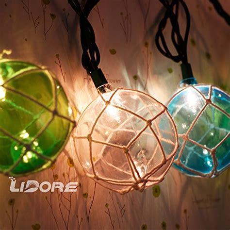 Lidore Set Of 10 Nautical Fishing Floats Coastal Buoy Fish String Lights
