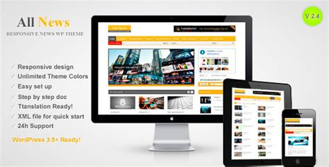 themeforest latest templates all news responsive wordpress news theme by