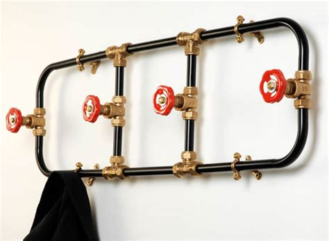 Plumbing Pipe Projects by Pipework Series Coat Rack Hangs Your Clothes In Plumbing