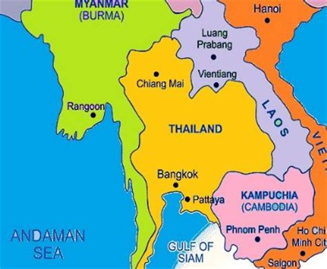 map of thailand country thailand kartenrand