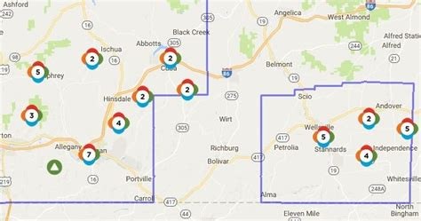nyseg power outage map wellsville regional news dot power outages linger