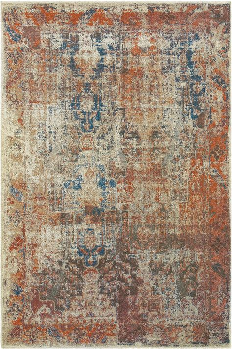 Orian Area Rugs Sphinx Beige Faded Distressed Flowers Contemporary Area