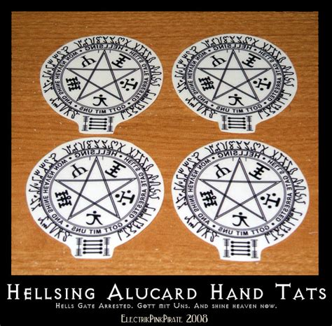 hellsing tattoo hellsing temporary tats by electrikpinkpirate on