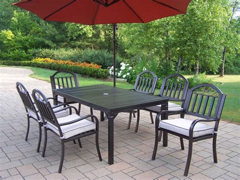 Iron Patio Dining Set - oakland living rochester wrought iron 8 pc dining set