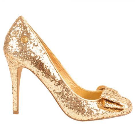 blink gold kerosene s glitter court shoe