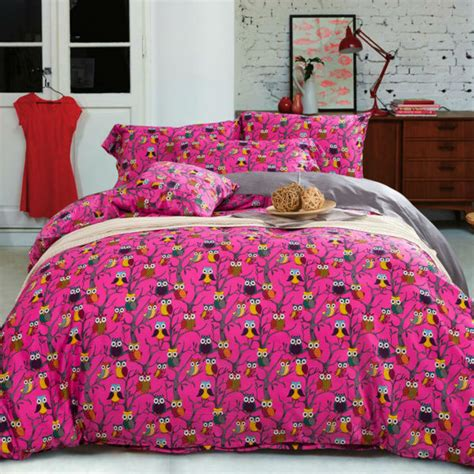 owl comforter set king owls print bedding sets queen king full double bed cotton