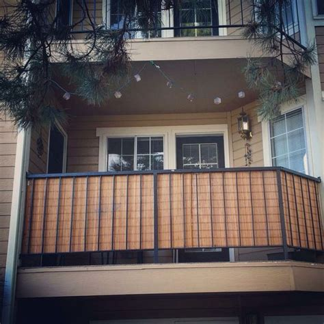 apartment patio privacy screen bamboo blinds for balcony privacy genius darian and kyle