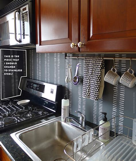 diy temporary backsplash house updated turning an ugly backsplash into something that s quite