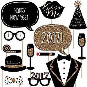 new years eve photo booth props new years eve party new amazon com new years eve party gold photo booth props
