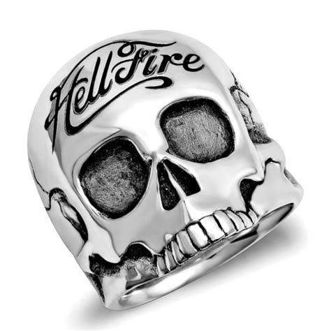 Skeleton Kulit Logo Sing Silver Black hellfire by linx 925 sterling silver hell club silver and sterling