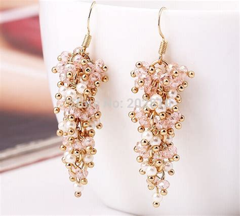 2015 new type trendy pearl earring gold