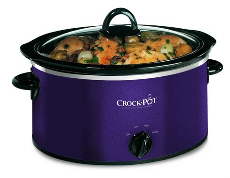 crock pot slow cooker 3 5 litre aubergine amazon co uk