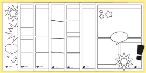 Comic Book Strips Template by Blank Comic Book Templates Comic Comic Books Writing