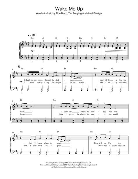 tutorial piano wake me up wake me up sheet music by avicii easy piano 117082