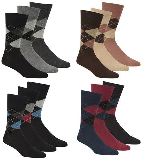 diamond pattern golf socks pierre roche mens argyle pattern socks non elastic brown