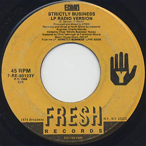 Epmd Strictly Business Vinyl - epmd strictly business 7 7inch fresh 中古レコード通販 大阪